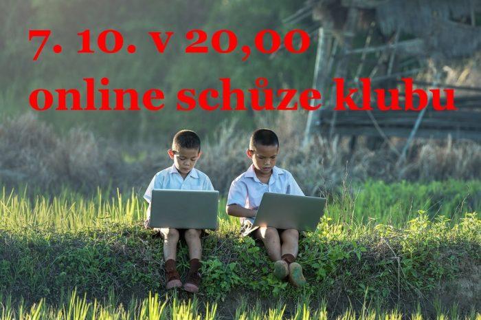 Online schůze klubu 7. 10. 2020 ve 20,00