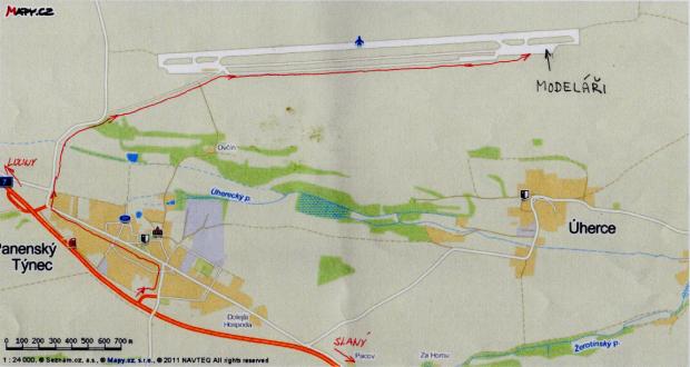 Panenský Týnec-mapa